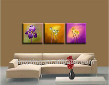 home wall decoration flower oil painting group