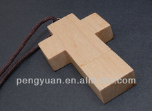 Hot ! Wooden Gifts Cross USB pen drive , Cross USB thumb drive , Cross USB gifts (PY-U-128)