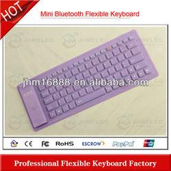 washable silicon bluetooth keyboard case for mini ipad