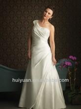 Taffeta One Shoulder Neckline Asymmetrical Wrapped Bodice Mother Of Bride Plus Size