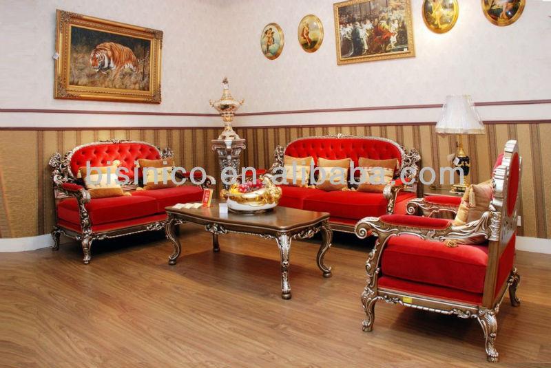 Paris Royal Living Room Sofa Classical Wood Carved Sofa Set B50604 View Liv
