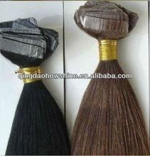 stock cheap 20 inch 100% human hair russian virgin hair wholesale tape hair extension