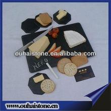 Black slate rectangle eco dinner plate