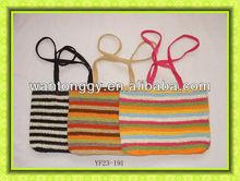 New trend girl's elegant striped crochet paper bag