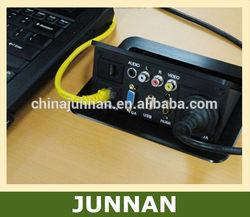 RJ11/Telephone, RJ45/Data, RCA, HDMI, VGA, USB, XLR etc. in Table Outlet Socket