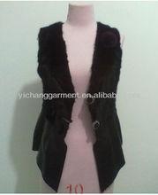 2013 women genuine mink fur and lamp skin vest