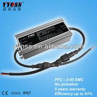 PFC(0.95) 5 years warranty waterproof constant voltage led driver 12v 36w 50w 60w 100w 120w 150w 200w