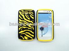 2013 New Hot Hybrid Zebra Phone Case for Samsung Galaxy S3 phone case