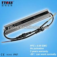 PFC>0.95 EMC Waterproof IP67 25w 240mA led driver 3 year warranty