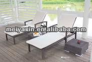 ML-6009 PE Rattan latest beach lounger