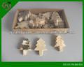 en forma de árbol pequeño material natural artesanías