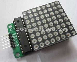 Max7219 de matriz de punto del módulo, módulo de control para arduino, módulo de microcontrolador, módulo de visualización