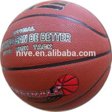 rubber leather/PU basketball