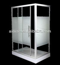 rectangle line glass sliding shower enclosure