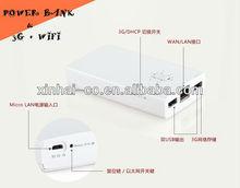 Internet acces et double-USB 6300MAH 3 G Internet accds electrique mobile chargeur sans fil