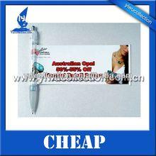 Promotion cheap Plastic scroll ballpen,Advertising banner pen,Flyer pen