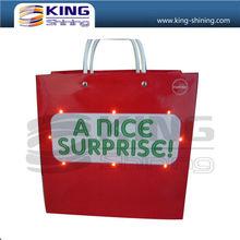 customized led paper bag/custom led paper shopping bag
