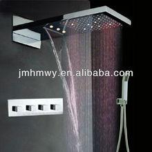 led downlight for shower room rainfall,waterfall,both led light shower head wall mount shower rain
