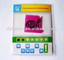 fashion puffy mobile phone sticker