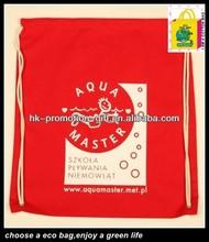 eco cotton shopping bag/promotional bag/cotton fabric drawstring bag