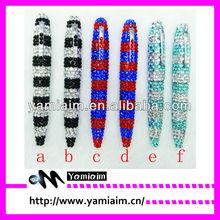 crystal stripe rhinestone pen