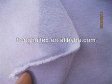 cotton polyester spandex/lycra stretch winter thermal underwear velour fabric for garment