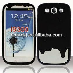 For Samsung Galaxy S3 Soft Gel Skin Silicone Case Phone Cover Black Choco Ice Cream Melt Case
