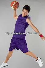 summer garment v-neck polyester basketball sport wear for men
