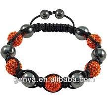Trend you Crystal beads Handmade Shambala Bracelet