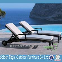 luxury rattan and aluminum double beach lounge