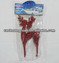 Red Plastic Christmas Decoration/Xmas Sika Deer