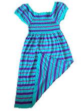 Factory Provide Seamless Streak Hawaiian Dress For Women