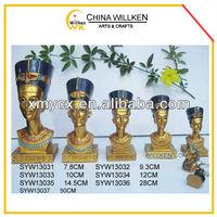 Polyresin Egypt queen figurines
