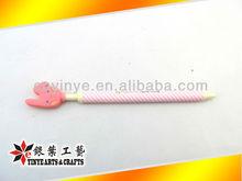 custom soft pvc logo korean style ball pen