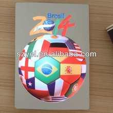 Football World Cup Brazil EL Flashing Panel T shirt