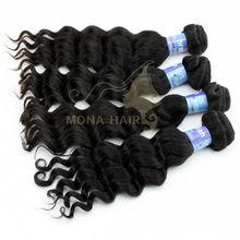 5A Good quality virgin brazilian human hair own brand hair products