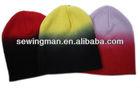fashion warm dip-dye plain hat simple beanie