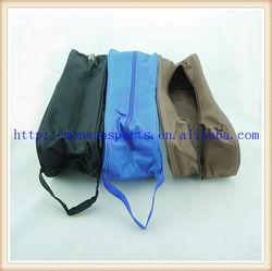 nylon light weight golf shoe bag with wrap around zipper fltf