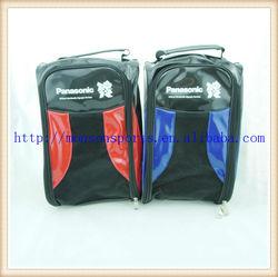 fltf shiny pu light weight golf shoe bag with wrap around zipper
