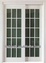 wooden flush primered door with glass
