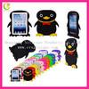 Colorful and beautiful 3d shape silicon penguin cover case for ipad mini