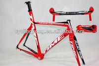 package! 2012 Time RXRS Ulteam carbon frame,road bicycle racing bike, frameset+handlebar+stem, red T2