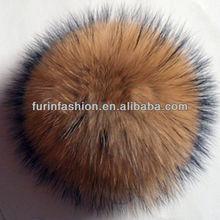 Raccoon Dog Fur Pompoms