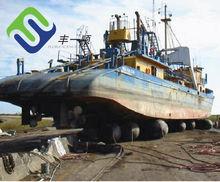 Florescence marine ship airbag for Batam ship yard