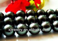 Wholesale 22mm south sea black shell pearl imitation beads