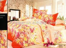 Carpet of flowers design 100% cotton, 4 pcs bedding set, colored printing