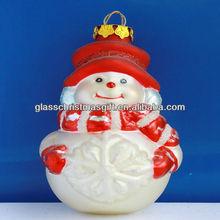 Snowman Old World Christmas Winter Glass Ornament