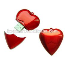 plastic lanyard heart usb memory stick