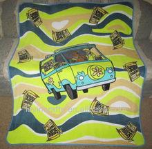 New Scooby Doo & Shaggy Mystery Machine Van Plush Fleece Gift Blanket Snack SOFT