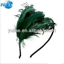 Latest New Style Elegant Retro Elegant Gorgeous Hair Band With Three Feathers